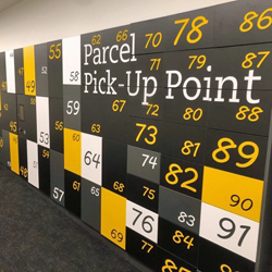 Parcel pick up point lockers